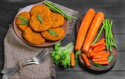 Cutlets καρότων φωτογραφία τροφίμων Στοκ εικόνα με δικαίωμα ελεύθερης χρήσης