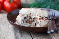 Cutlets κοτόπουλου με το φαγόπυρο Στοκ φωτογραφίες με δικαίωμα ελεύθερης χρήσης
