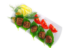 cutlets λαχανικά κρέατος Στοκ Φωτογραφία