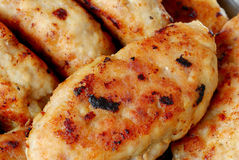 Cutlets. Fried cutlets on plate closeup Royalty Free Stock Photo
