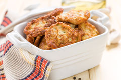 Cutlets. Fresh fried homemade cutlets in the pot Royalty Free Stock Photo