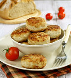Cutlets  in a bowl Stock Images