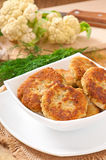 Cutlets cauliflower Stock Images