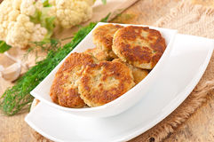 Cutlets cauliflower Royalty Free Stock Photography
