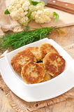 Cutlets cauliflower Stock Photo