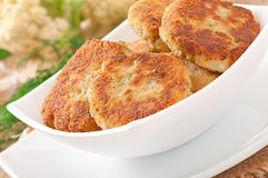 Cutlets cauliflower Stock Photography