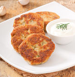 Cutlets cauliflower Royalty Free Stock Photos