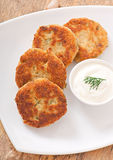 Cutlets cauliflower Royalty Free Stock Images