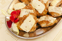 Cutlets with cheese Royalty Free Stock Photos