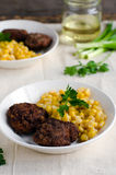 Cutlets of chickpea Royalty Free Stock Photography