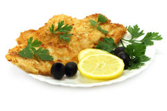 Cutlets composition. On a white background Royalty Free Stock Photos