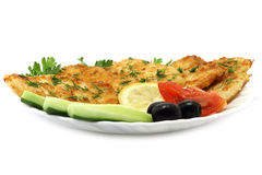 Cutlets composition. On a white background Stock Images