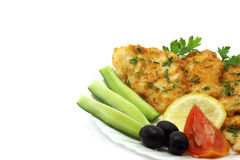 Cutlets composition. On a white background Stock Photography