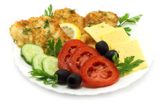 Cutlets composition. On a white background Royalty Free Stock Image