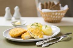 Cutlets de volaille με την πατάτα στοκ εικόνα