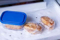 Cutlets in the freezer Royalty Free Stock Photo