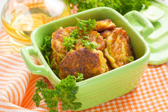 Cutlets. Fresh fried homemade chicken cutlets Stock Photos
