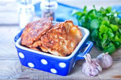 Cutlets. Fried cutlets from chicken in the bowl Royalty Free Stock Images
