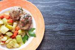 Cutlets With Garnish Stock Image