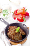 Cutlets from the liver. Hepatic fritters. Royalty Free Stock Image