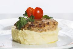 Cutlets with mashed potatoes Royalty Free Stock Photo