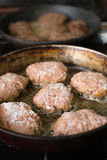 Cutlets from minced meat fried Stock Photo