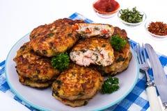 Cutlets od mięsa i warzyw Zdjęcia Stock