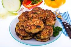 Cutlets od mięsa i warzyw Zdjęcia Royalty Free