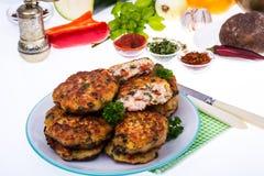 Cutlets od mięsa i warzyw Zdjęcie Stock