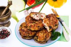 Cutlets od mięsa i warzyw Obrazy Stock