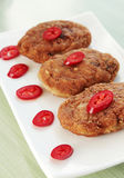 Cutlets with the pepper stock photography