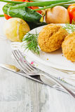 Cutlets on a plate Royalty Free Stock Photos