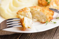 Cutlets with potato Stock Photo