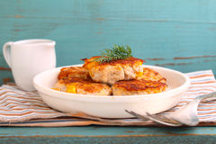 Cutlets from poultry Stock Photography