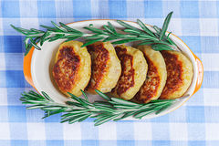 Cutlets and rosemary Stock Photography