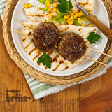 Cutlets or Sausage Patties Royalty Free Stock Image