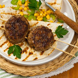 Cutlets or Sausage Patties Stock Image