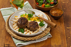 Cutlets or Sausage Patties Stock Photos
