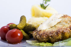 Cutlets with vegetables Royalty Free Stock Image
