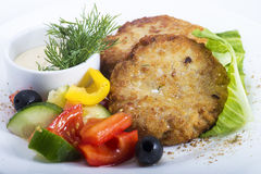 Cutlets vegetables Royalty Free Stock Photography