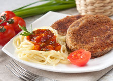 Cutlets With The Vermicelli. Royalty Free Stock Photo