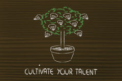 Cutlivate your potential, your talent, your ideas stock illustration