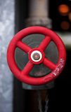 Cutoff cok. Red cutoff valve for an industrial use royalty free stock image