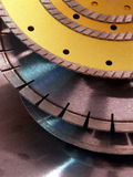 Cutoff disks. Diamond cutoff disks for special tools Stock Images