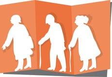 Cutout elderly Royalty Free Stock Image