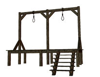Cutout - gallows from the Middle Ages Stock Images