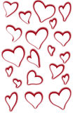 Cutout Hearts. Paper heart cutouts for Saint Valentine's Day Stock Photo