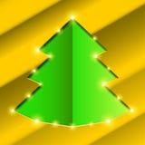Cutout hole frame Christmas tree Stock Photography