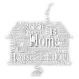 Cutout home words Royalty Free Stock Photos