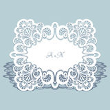 Cutout lace frame Stock Photo